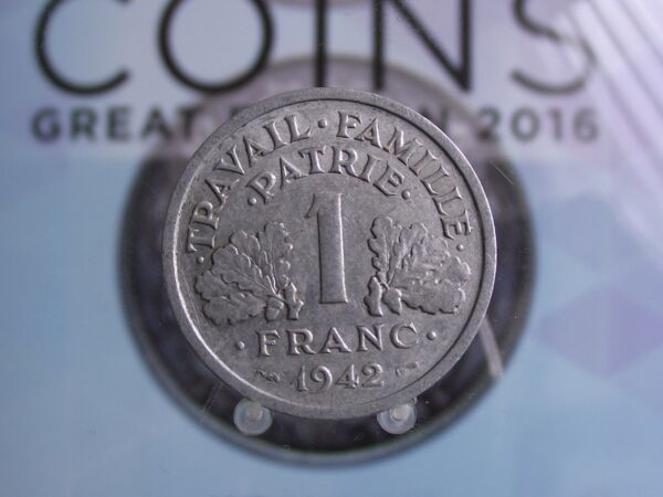 0025 F France Franc 1942 Avoir Un Style National Unique