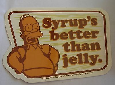 Simpsons Homer Beer temporary solution sticker  Licensed