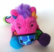"""Romero Britto Mini Pony Frida Pop Plush Colorful 10"""" Enesco 2010"""
