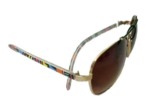 Chevron Aztec Checkered Aviator Sunglasses Shades Black White Multi Color