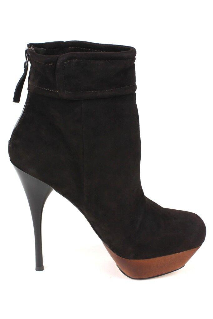 L.A.M.B. BLAZON Braun  High Leder Ankle Bootie Stiletto High  Heels Platform LAMB NEW 2b82c0