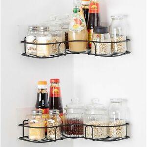 Bathroom Punch-Free Corner Shower Shelf Rack Kitchen Storage Rack Sets* AMAZING