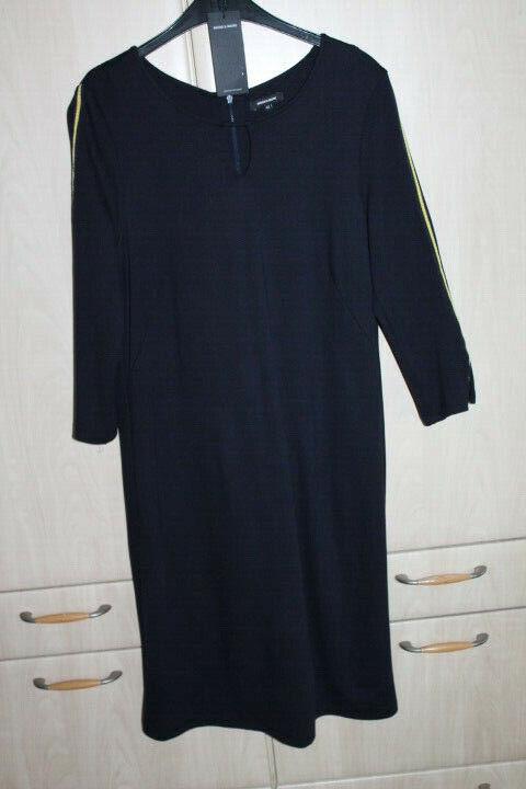 More & More Jerseykleid marine Kleid Damenkleid Shirtkleid 42 mit Streifen NEU