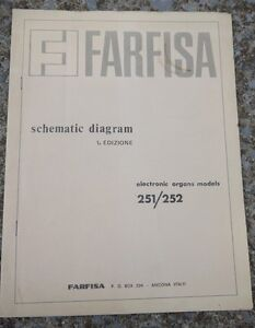 Farfisa-Electronic-Organ-Models-251-252-Schematic-Diagrams