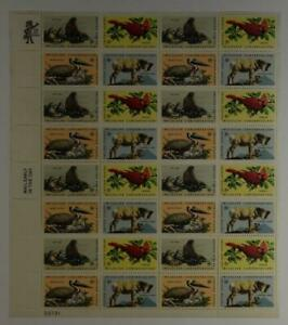 US-SCOTT-1464-1467-PANE-OF-32-WILDLIFE-CONSERVATION-STAMPS-8-CENT-FACE-MNH