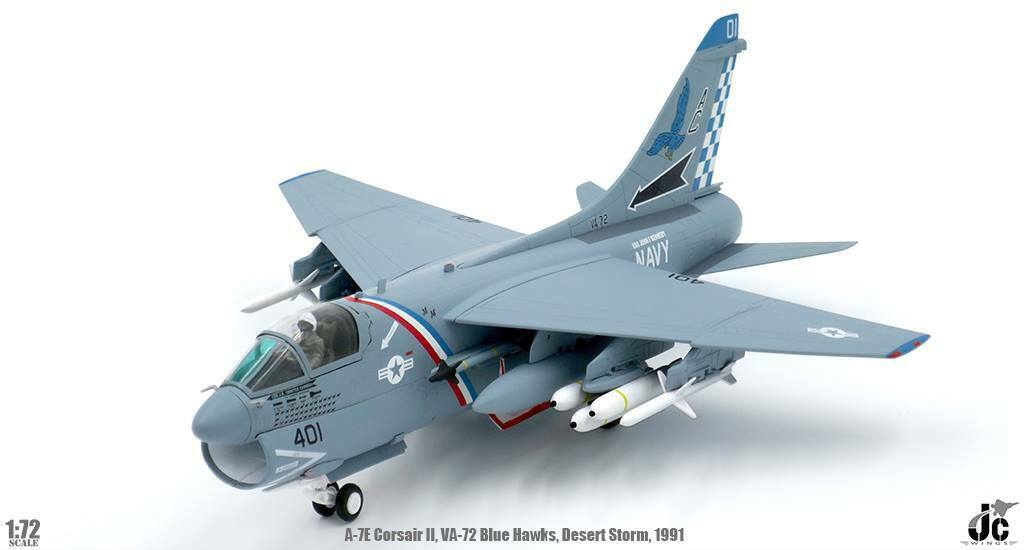 Vought A-7E Corsair II VA-72 bluee Hawks Desert Storm USS John F Kennedy JC Wings