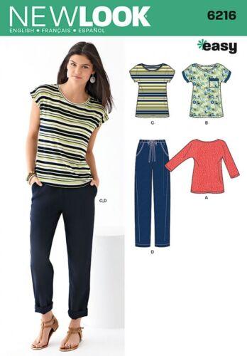 Newlook - 6216 New Look Damas fácil patrón de costura 6216 Informal Prendas para el torso y pantalones