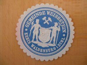 15272-Siegelmarke-Gemeinde-Weissenstein-Kreis-Waldenburg-Schlesien