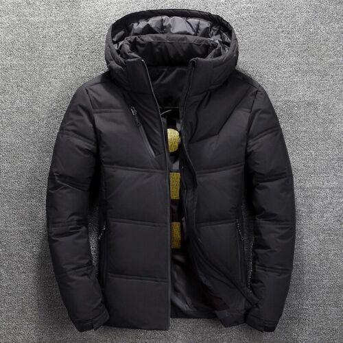 Winter Men/'s Warm Quilted Duck Down Padded Bubble Puffer Jacket Ski Coat Parka