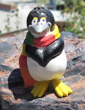 RARE 1990s Cute Penguin Standing in a Multi-Colored Scarf PVC
