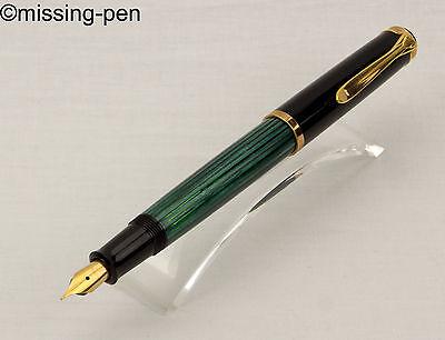 very rare dummy / Attrappe Pelikan Fountain Pen M400/M 400 in Green-Black .