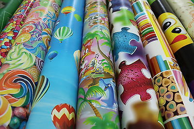 Childrens Kids Vinyl Tablecloth 140cm Wide Easy Clean All ...