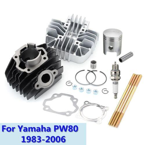 Cylinder Piston Block Head Ring Gasket Top End Kit Set For Yamaha PW80 1983-2006