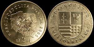 Pologne. 2 Zloty. 2005 (Pièce KM#Y.560 Neuf) Voïvodie de Swietokrzyskie