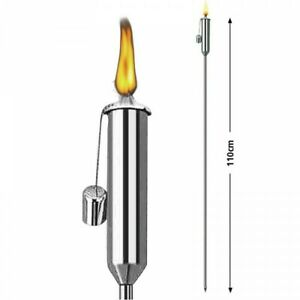Modern-Stainless-Steel-Garden-Torch-110-cm-Petroleum-Oil-Ornament