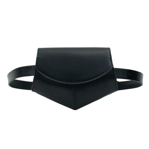 Black Printing Shoulder Women Waist Fanny Belt Packs Small Chest Bags //KT