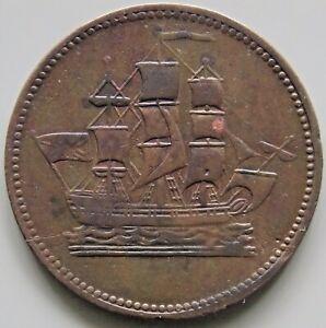PE10-38-Canada-Prince-Edward-Island-PEI-Ships-Colonies-amp-Commerce-Token