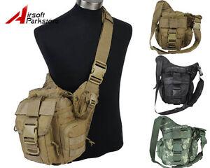 Tactical Military Hiking Hunting 1000D Molle Shoulder Sling Bag ...