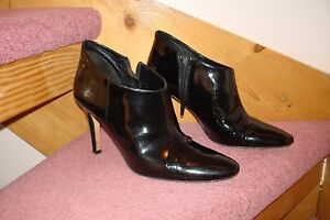 LK-BENNETT-PATENT-LEATHER-BOOTS-SHOES-SIZE-6-VERY-GOOD-CONDITION-SIDE-ZIP