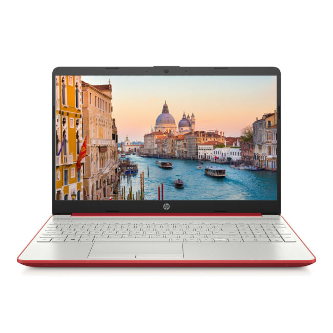 NEW HP 15.6 inch HD Intel N5000 4GB DDR4 500GB HDD Webcam BT Windows 10 Scarlet Red