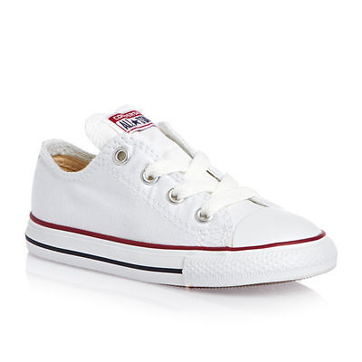 Converse Low Tops Optical White OX Infant Toddler Baby Boys or Girls Kids Shoes
