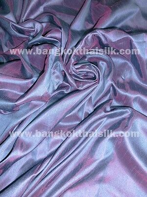 BLUE GRAY SHOT RED DUPIONI FAUX SILK FABRIC for WEDDING TABLECLOTH DRESS DRAPE