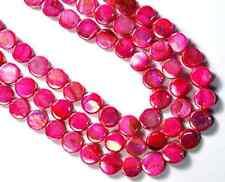 Perlmuttperlen Linse 10 mm pink AB 1Strang