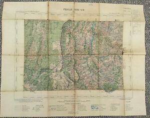 Antiguo-carta-Drome-Die-Treffort-St-Andeol-tirada-1916-old-french-map