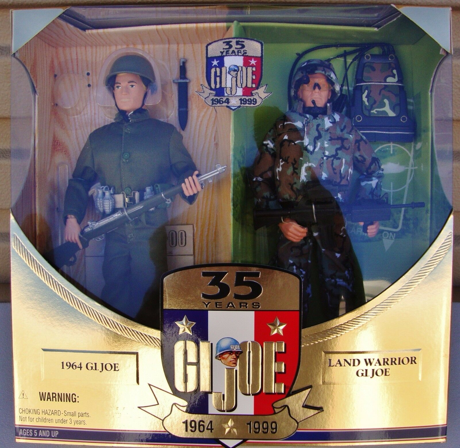 G. I. Joe 35 Years Now & Then 1964 - 1999 Two Figures w Chase Patch GJ-2