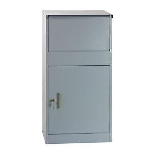Briefkasten-Standbriefkasten-Paketbriefkasten-Grossraumbriefkasten-silber-grau