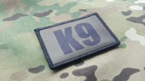 K9 Handler OD Green Morale Patch 2 Piece Set Sheriff SWAT Border Patrol Police