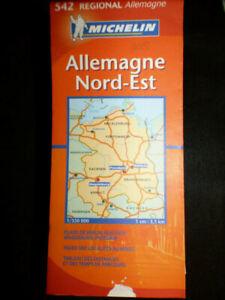 Carte-michelin-orange-542-region-allemagne-nord-est-2008