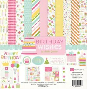 Echo-Park-BIRTHDAY-WISHES-Girl-Collection-Kit-12x12-Scrapbook-Party-Planner