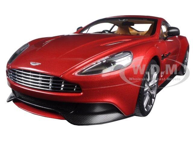 Aston Martin Vanquish Volcano rosso 1 18 modelo de coche de Autoart 70249