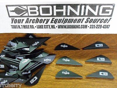 "Arrows & Parts Archery Arrow Fletching Disciplined 100 Black Bohning 2"" Blazer Vanes Pack"