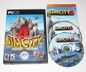 Details about Sim City 4 Deluxe Edition PC Game 2003 Complete Simcity Rush  Hour