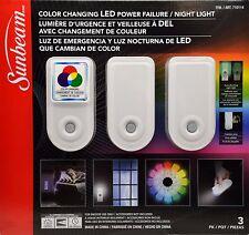 Buy Sunbeam Color Changing Led Power Failure Night Light 3pk Online
