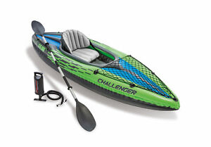 New-Intex-One-Person-Challenger-K1-Inflatable-Kayak-Kit-with-Oars-amp-Pump-68305EP
