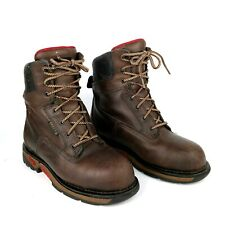 fc154d1ba8d Rocky Work Boots Mens Elements Shale Waterproof Leather Brown ...
