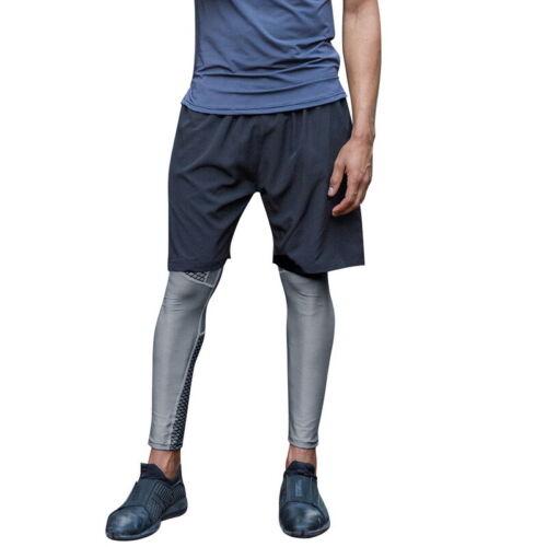 Herren Sport Leggings Schnelltrocknende Gymnastikhose Laufsportstrumpfhose L//P