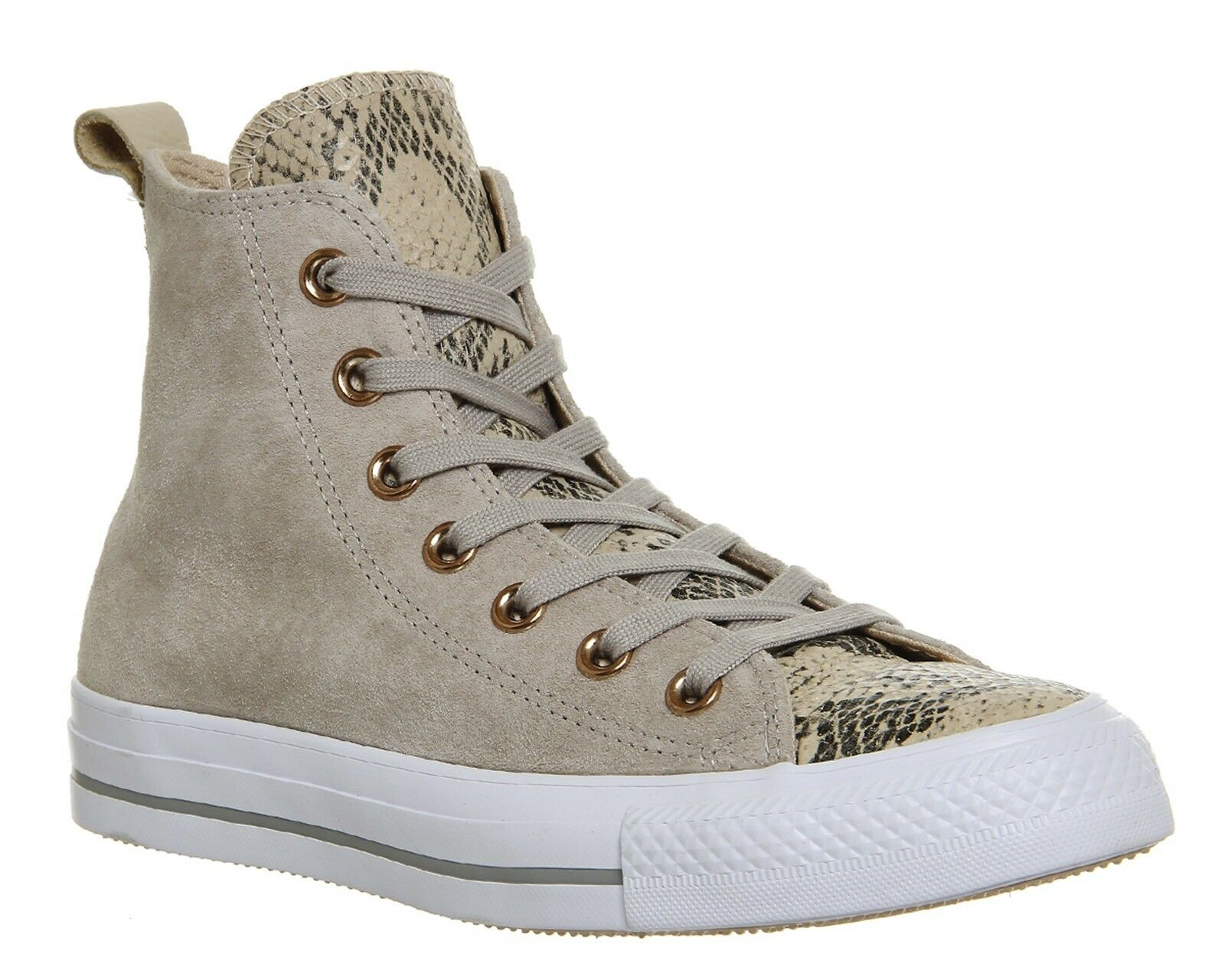 ✨NEW✨ Ivory Converse Lined Loop Suede Ivory ✨NEW✨ Snake High Top Turnschuhe Sz 8 0783e2