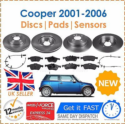Rear Solid Brake Discs Mini Mini One Hatchback 2001-06 90HP 259mm