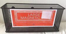 Mesh Magnetic Locker Magnetic Safe Space Storage Box Bin Black  byMSA NEW NEW