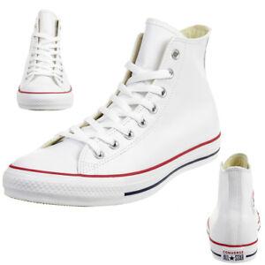 d21580dd8f9949 Converse C Taylor All Star HI Chuck Schuhe Sneaker Leder weiss ...