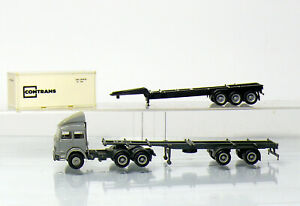 Herpa-Iveco-Container-Semitrailer-Trailer-And-1-Contrans-Container