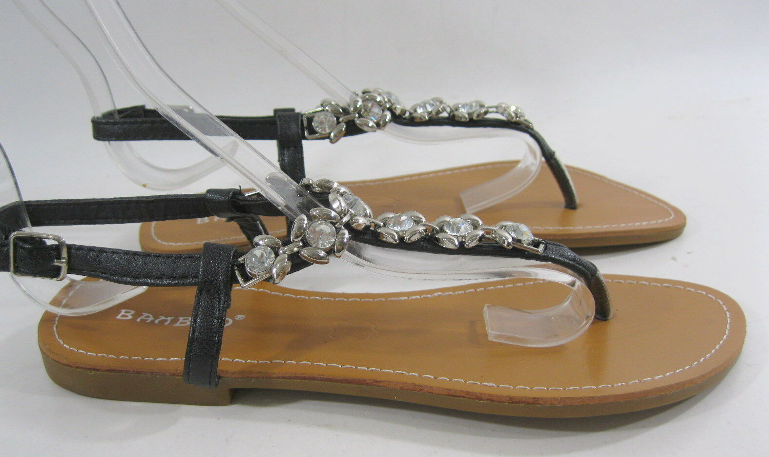 NEW LADIES Summer Sexy Black Stones Womens Shoes Sexy Summer Flat Sandals Size 6 3d4e39