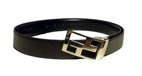 Ferré Designer svolta cintura in pelle regolabile fino a max COT Marrone//Nero 115 cm