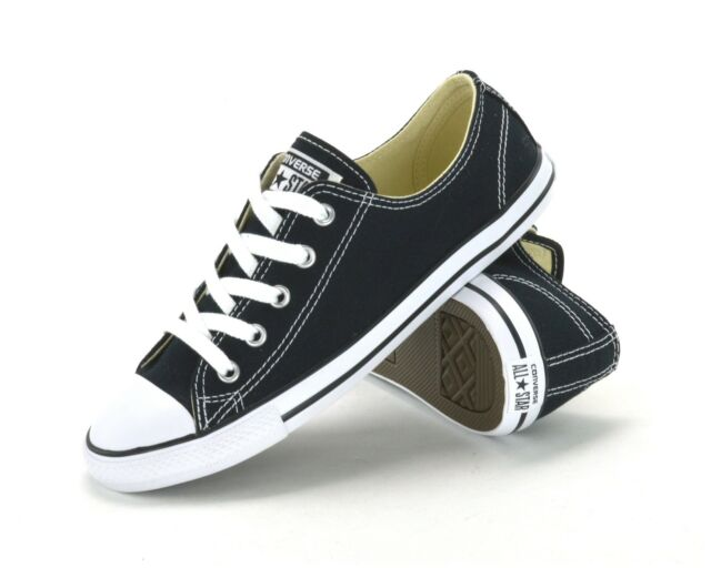 sports shoes cf7e2 e6231 CONVERSE ALL STAR CT DAINTY OX -530054C -WOMENS SNEAKERS -BLACK WHITE -