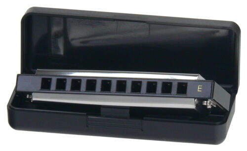 Tolle Classic Cantabile Blues Mundharmonika Richter Modell E-Dur mit Etui