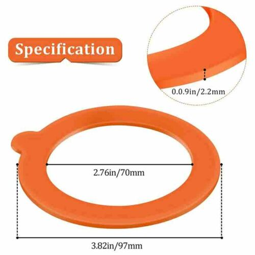 20 Pieces Replacement Silicone Seals Replacement Rubber Jar Seals Airtight SA1U6
